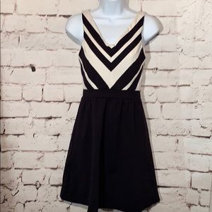 Cynthia Rowley Chevron Fit & Flare Dress, XS